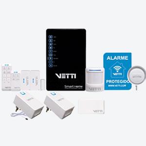 Smarthome vetti sistema de automação e alarme pelo aplicativo no celular.