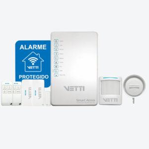 Kit de alarme vetti residencial e comercial completo