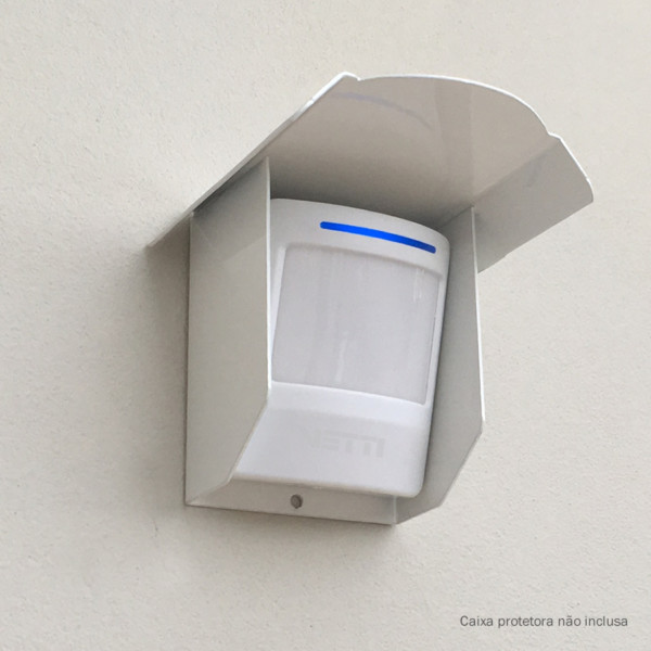 Sensor de presença com a caixa protetora para uso externo