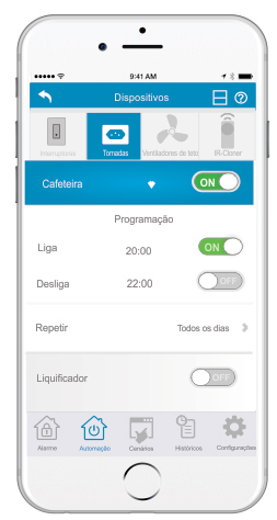 aplicativo tomada automação  vetti