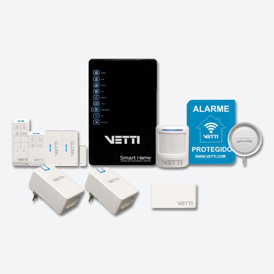 smart home kit automa o pelo aplicativo no celular vetti. Black Bedroom Furniture Sets. Home Design Ideas